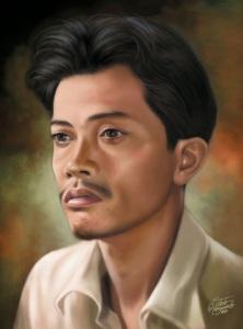 Ilustrasi Chairil Anwar karya Toto Haryanto
